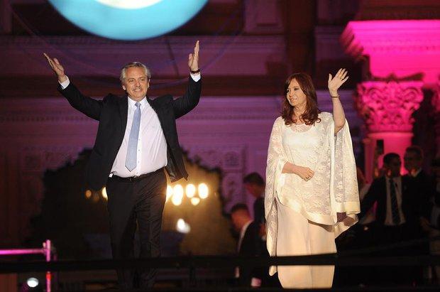 Acto de Alberto Ferández y Cristina Kirchner / Foto: EFE
