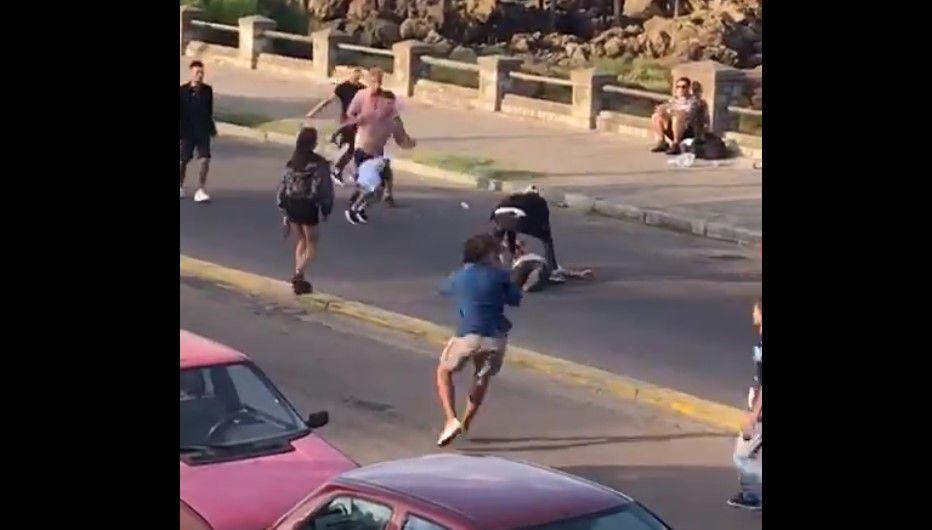 Batalla campal entre argentinos y uruguayos