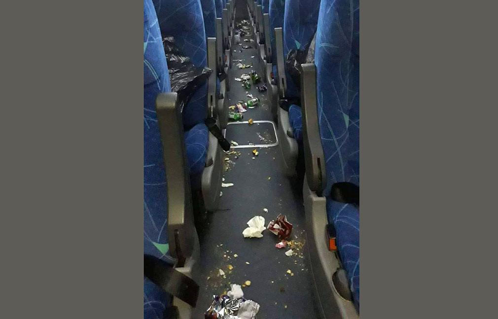 Basura en el bus