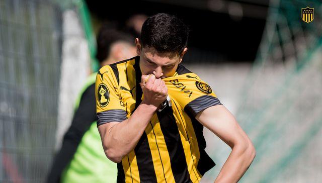 """Peñarol: """"¡Un gol soñado! Feliz por lo que me está tocando vivir"""", dijo Agustín Álvarez"""