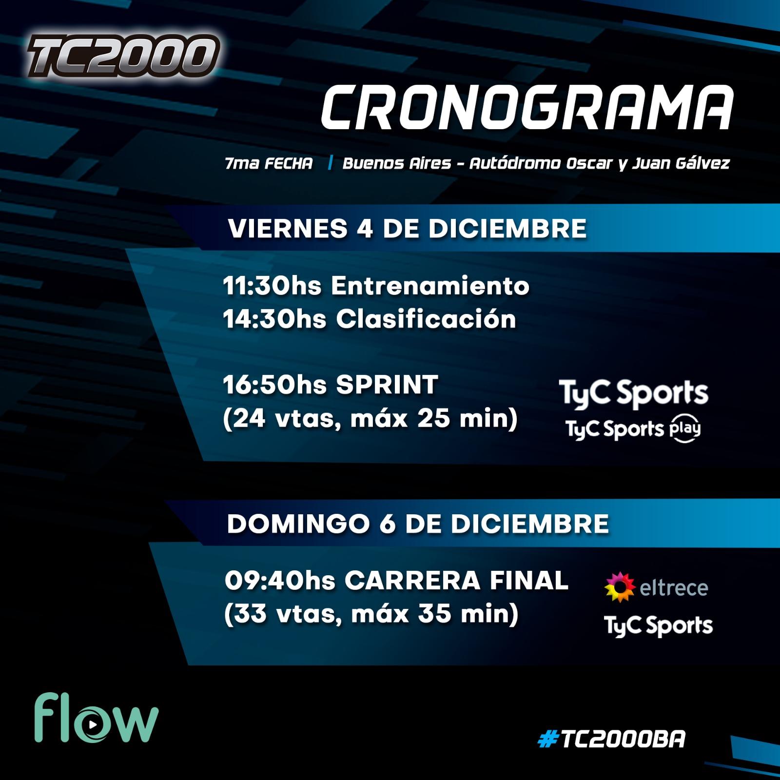 cronograma tc2000 argentino