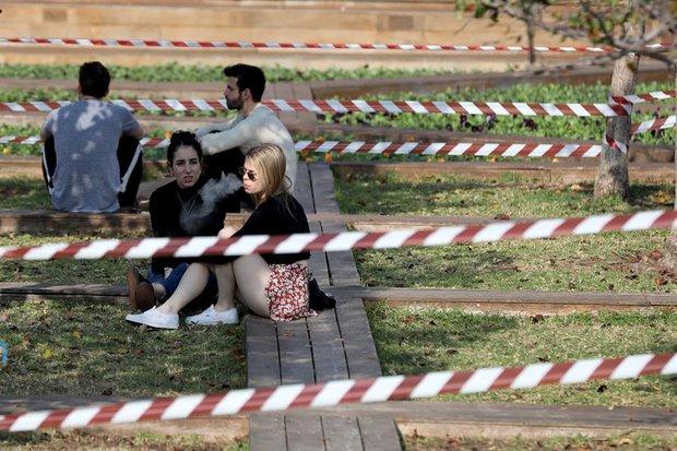 Personas en un parque en Tel Aviv. EFE/EPA/Abir Sultan