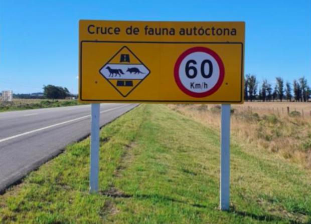 Cartel ubicado en la ruta 9 de Rocha, Uruguay. Foto Agustina Serrón