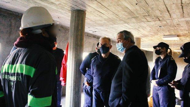 El ministro del Interior, Luis Alberto Heber, durante su visita a las cárceles femeninas.